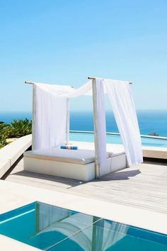 Santorini Cabana in the living room luxecafe:  More at http://LuxeCafe.co - Our Twitter: @LuxeCafe_co