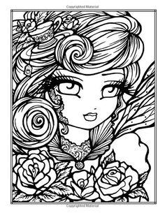 Hannah Lynn Coloring Pages Tattoo Darlings - Bing images Blank Coloring Pages, Printable Adult Coloring Pages, Coloring Books, Coloring Sheets, Fairy Coloring, Doodle Coloring, Hannah Lynn, Halloween Coloring, Princesas Disney