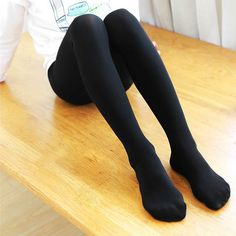 Thigh High Tights, My Tights, Cute Tights, Tights Outfit, Black Tights, Rainbow Socks, School Girl Dress, Teen Girl Outfits, Black Stockings