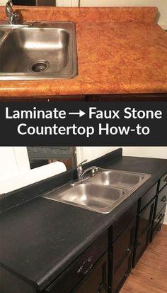 DIY Stone Countertop Remodel