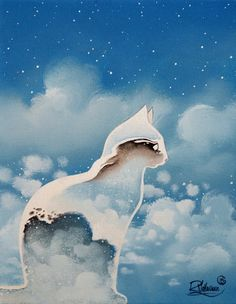 """ BLUES CAT "" Original Painting is available now: http://ift.tt/1dFMdtx Fine Art Print Free worldwide delivery - http://ift.tt/1dFMdtA"