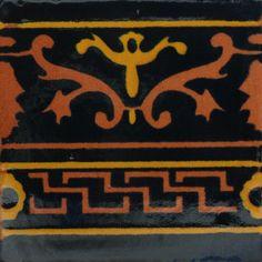 Traditional Mexican Border Tile - Cenefa, Terra Cota – Mexican Tile Designs