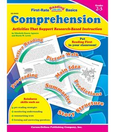 Use First-Rate Reading Basics: Comprehension to produce first-rate readers with fun, interactive, and original activities that emphasize reading skills for grades 2–3. These skills include pre-reading, monitoring comprehension, graphic and semantic organizers, answering and generating comprehension questions, recognizing story structure, summarizing, and interacting with the text. This 80-page book includes a reproducible parent letter and student assessment and enriches students'…