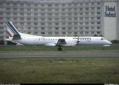 Saab 2000, Cityjet, EI-CPW, cn 016, first flight 24.3.1995 (Deutsche BA), Cityjet delivered 10.6.1998. Foto: Paris, France, 9.9.2000.