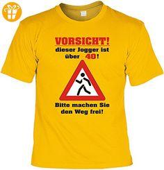 Geburtstag Sprüche Tshirt Vorsicht! Dieser Jogger ist über 40! Bitte machen Sie den Weg frei! . gelb - Shirts zum 40 geburtstag (*Partner-Link)