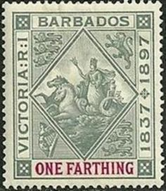 Barbados (1966-now) Barbados Postage Stamp Sergeant Major Fish 75 Cent Caribbean Used
