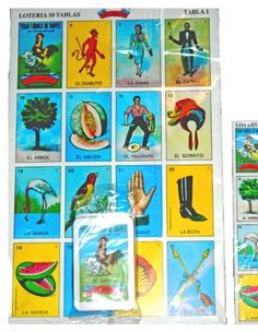 MEXICAN JUMBO LOTERIA SET 10 Very Large Boards, Deck of Cards FUN & EDUCATIONAL! Don Clemente http://www.amazon.com/dp/B00644YQ1K/ref=cm_sw_r_pi_dp_iEb2tb00QS5VX3J9