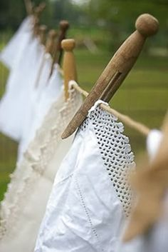 clothespins and lace. #country