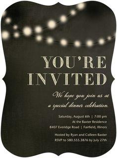 Evening Glow - Party Invitations - Hallmark - Dark Gray - Gray   www.TinyPrints.com