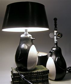 Mid Century Penguin Raymor Lamps.  (pic only)