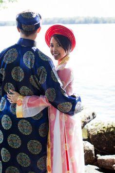 Chinese lakeside wedding