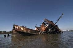 The Bayou Plaquemine - Photo of the Abandoned Staten Island Boat Graveyard