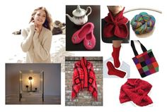 """""""The cosiness and comfort. The natural gift."""" by lwitsa62 ❤ liked on Polyvore featuring interior, interiors, interior design, home, home decor, interior decorating, Repeat Cashmere and Hostess"""