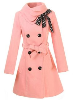 Beautiful pink wool coat - this will be mine! OH yes, it will be mine!!!