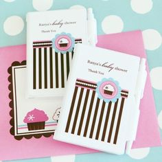 Personalized Notebook Favors  Cupcake Party  Total 96 items *** Learn more by visiting the image link. (This is an affiliate link)
