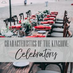 We can miss the celebration of God's goodness because we're so focused on our work, our problems, or our comfort. #kigndomofgod #christian #bible Celebration, Bible, Christian, God, Table Decorations, Biblia, Dios, Allah, Christians