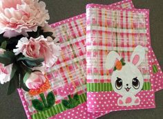 RESEUVE LISTING . . . Quilted EASTER Placemats . . . by pdqdesigns