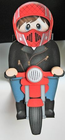 3D On the Shelf Card Kit   Young Man Jonathon Rides his Motorbike on Craftsuprint - View Now!