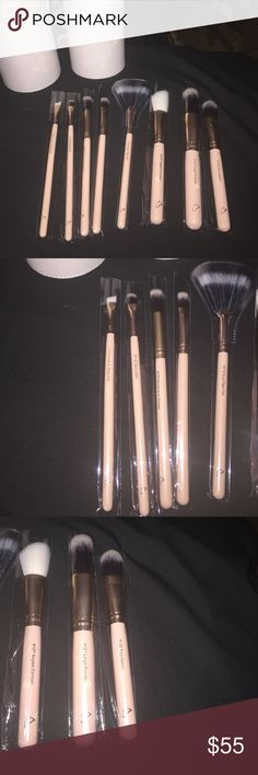 Beautiful 8pc brush set❤️ Beautiful 8pc light pink brush set by glam her booth❤️   I paid $70 for this set and I realized I no longer need it as soon as it came 😥  #114 brow or wing liner #112 concealer  #109 blending or crease #111 eye shader  #110 duo fiber fan  #107 angled contour  #101 large powder  #105 foundation    Price is firm!!!🚫  Can be sold on Ⓜ️ for cheaper!! (Makeup for less)   No offers below $50    100% new & in its original packaging never used, comes with a beautiful case…