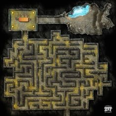 Copper Dragon Lair by Zatnikotel on DeviantArt Dungeons And Dragons Characters, D&d Dungeons And Dragons, Fantasy Map, Dark Fantasy, Dnd World Map, Rpg World, Arte 8 Bits, Rpg Map, Map Layout