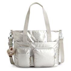 Sady Metallic Tote Bag by Kipling USA