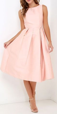Elliatt Evergreen Blush Midi Dress