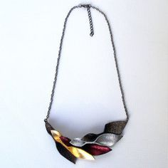 Petal Necklace Metallic, $22, now featured on Fab.
