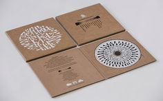 Packaging for the cd of Billa Qause - zentai teki niscreenprint on cardboard Cd Cover Design, Cd Design, Album Design, Branding Design, Cd Project, Wood Packaging, Cd Artwork, Cd Labels, Vinyl Designs