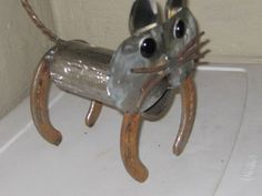 cat metal yard artsculpturesgarden artfound by Fishy16 on Etsy, $35.00