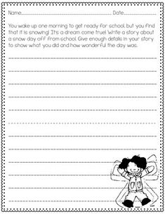 FREE!!  Looking for a way to quickly assess your students' abilities as writers?  These 3 updated prompts are an easy way to determine which skills your students already have, and which skills you will need to target as you begin your writing instruction. The narrative nature of the prompts make them kid-friendly and easy to use in your classroom!