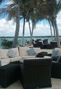 Come join us for a cocktail on the patio - can't beat the view! (Blue Haven, Turks & Caicos)