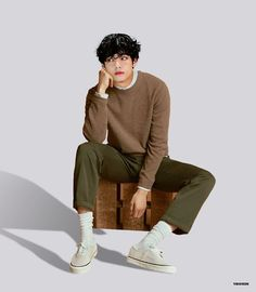 V Taehyung, Taehyung Fanart, Human Poses Reference, Pose Reference Photo, Bts Kim, Korean Fashion, Mens Fashion, Poses References, How To Pose