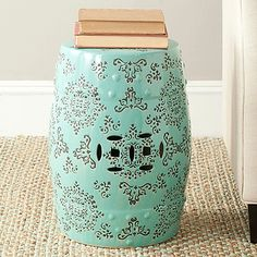 Adorned with lacey Asian patterns adapted from silk brocade fabrics the Medallion Garden Stool by & International Caravan Large Porcelain Elephant Stool - Overstock ... islam-shia.org