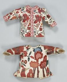 examples of babycoats from the Netherlands 1750