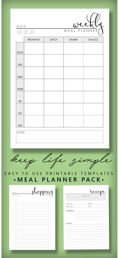 Budget Planner Printable Pack Financial Planner Template Weekly - Agenda Planner Template