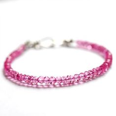 Pink quartz tennis bracelet