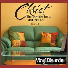 Christ the way john 14:6 Christian Vinyl Wall Decal Quotes C023ChristthewayII