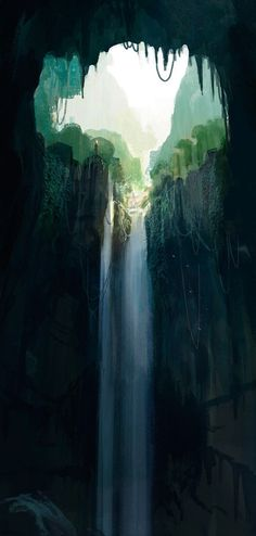 Waterfall | by unknown ~ { concept art }