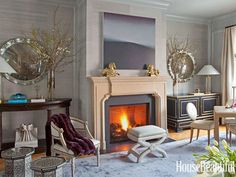 """""""There are so many different flavors in the living room,"""" designer Benjamin Dhong says, """"but it's all carefully balanced."""""""