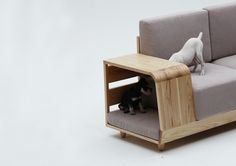 My dogs would love this! 'Dog House Sofa' Has A Place For Small Pets To Snuggle In