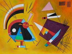 Wassily Kandinsky, he had synthaesthia, condition where perception is affected, he could hear colours.