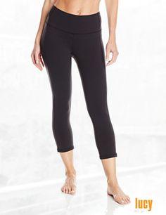 Lucy Women's Perfect Core Capri Solid Legging