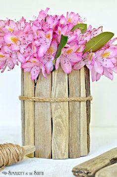 Diy Coastal Decor How To Make A Driftwood Vase, Crafts, Home Decor, Braided Jute Twine