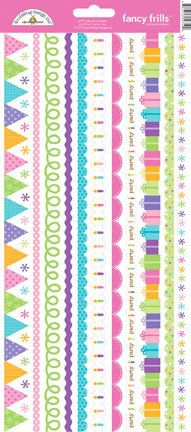 Doodlebug Design - Cake and Ice Cream Collection - Sugar Coated Cardstock Stickers - Fancy Frills