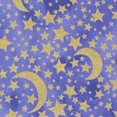 Michael Miller House Designer - Moon and Stars - Moon and Stars in Grape