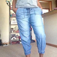 Loft Lou& Grey Denim Joggers Super Comfortable! Feel like sweats! Lou & Grey Jeans