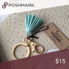 Small fringe keychain New with tags • Purchased from local boutique • Perfect little size for those who don't like having something long hanging from their keys when they drive • Price is firm Francesca's Collections Accessories Key & Card Holders