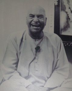 "Papaji (Sri H. W. L. Poonja) ♱, a true sage. One of the greatest advaita masters. Always laughing. His message: ""Go inside and find your true self by being quiet."" AL."