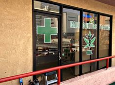 Custom window graphics for store front-green vinyl decals for store front