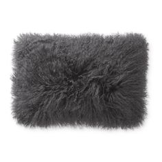 Genuine Mongolian lamb fur makes this pillow cover super-soft and irresistibly fluffy. We love its lush, shaggy texture and the fact that it can look bohemian, rustic, mod or tribal, depending on how you layer it. Black Pillow Covers, Black Pillows, Decorative Pillow Covers, Cotton Velvet, Jacquard Weave, Williams Sonoma, Shaggy, Lumbar Pillow, Raven